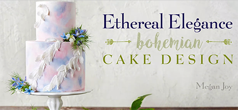 FREE PEEK: Ethereal Elegance - bohemian Cake Design